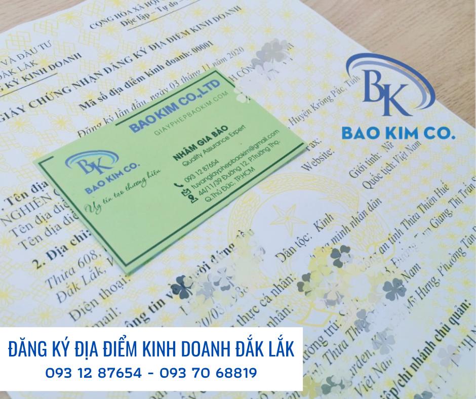 dịch vụ đăng ký địa điểm kinh doanh tỉnh đắk lắk