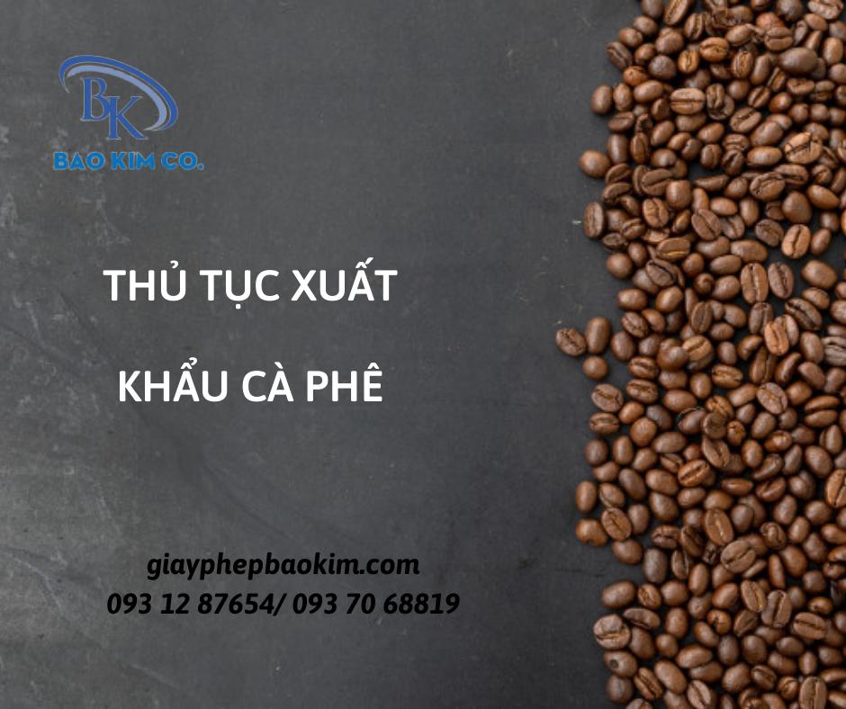 giấy chứng nhận y tế (HC) cho cà phê rang xay xuất khẩu