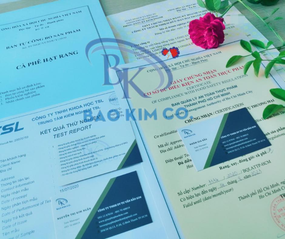 hồ sơ đăng ký giấy chứng nhận lưu hành tự do cà phê xuất khẩu