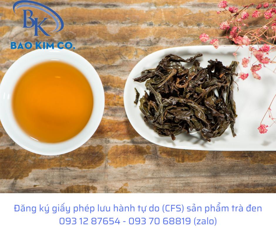 Giấy chứng nhận lưu hành tự do (CFS) cho trà đen