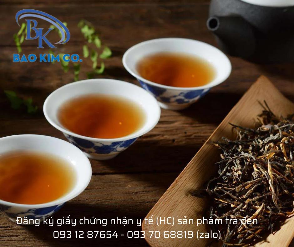 giấy chứng nhận y tế (HC) cho trà đen xuất khẩu