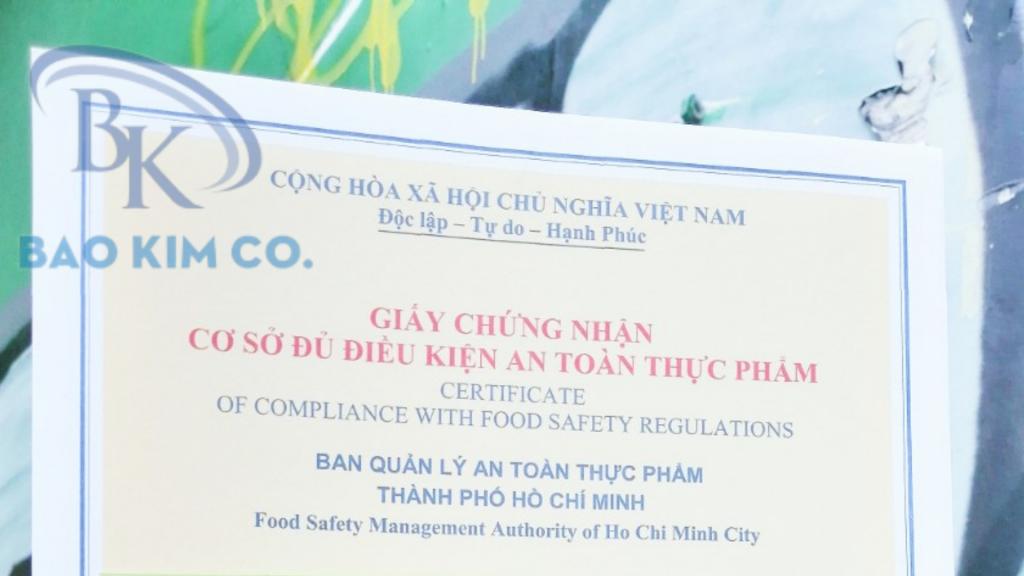 Đăng ký chứng nhận an toàn vệ sinh thực phẩm quán bia hơi quận 1