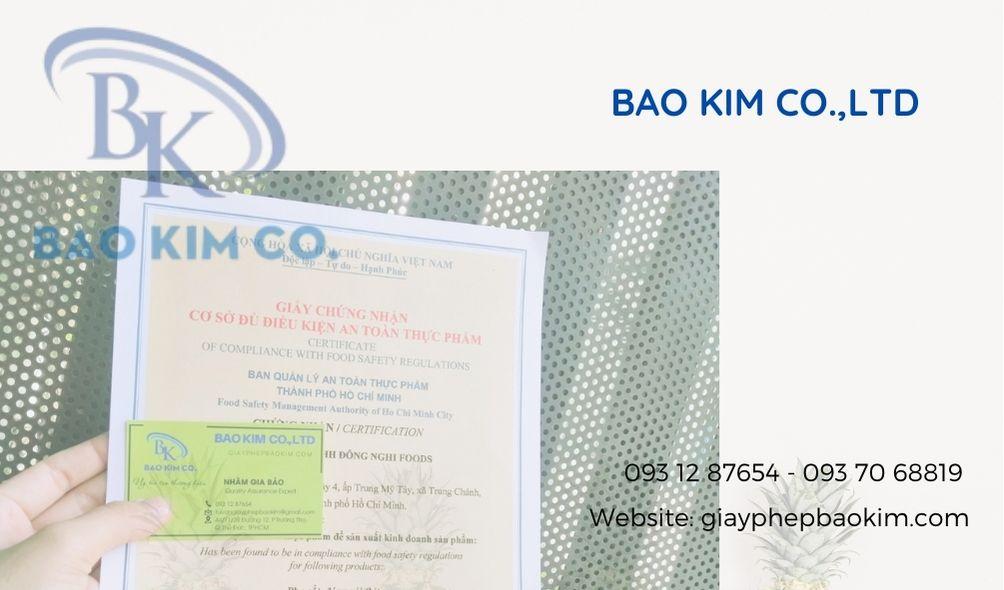 giấy phép An toàn vệ sinh thực phẩm kinh doanh dịch vụ ăn uống